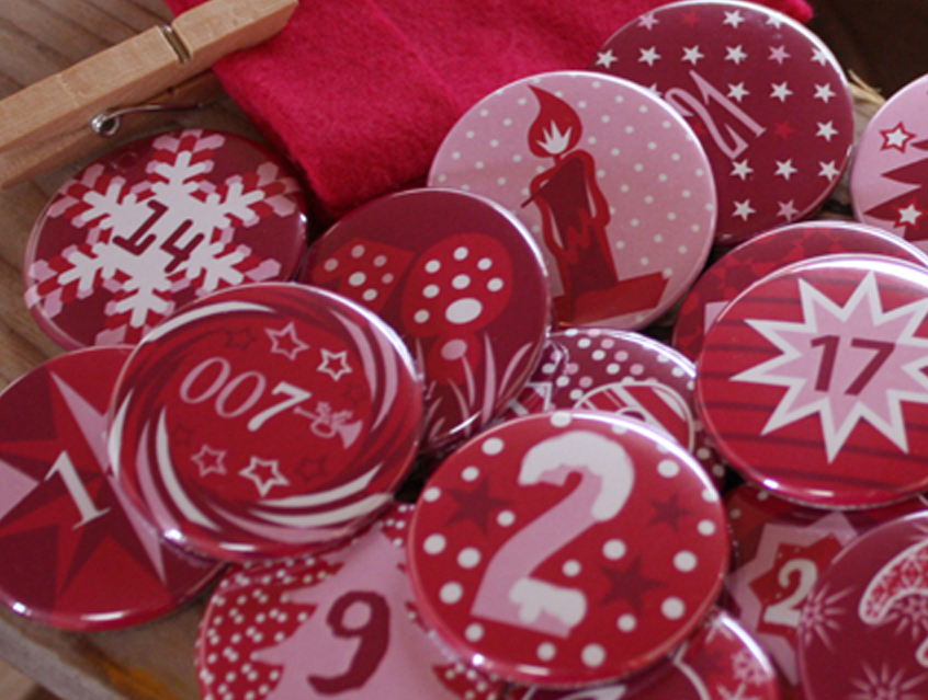 Button Set -X-Mas Girls